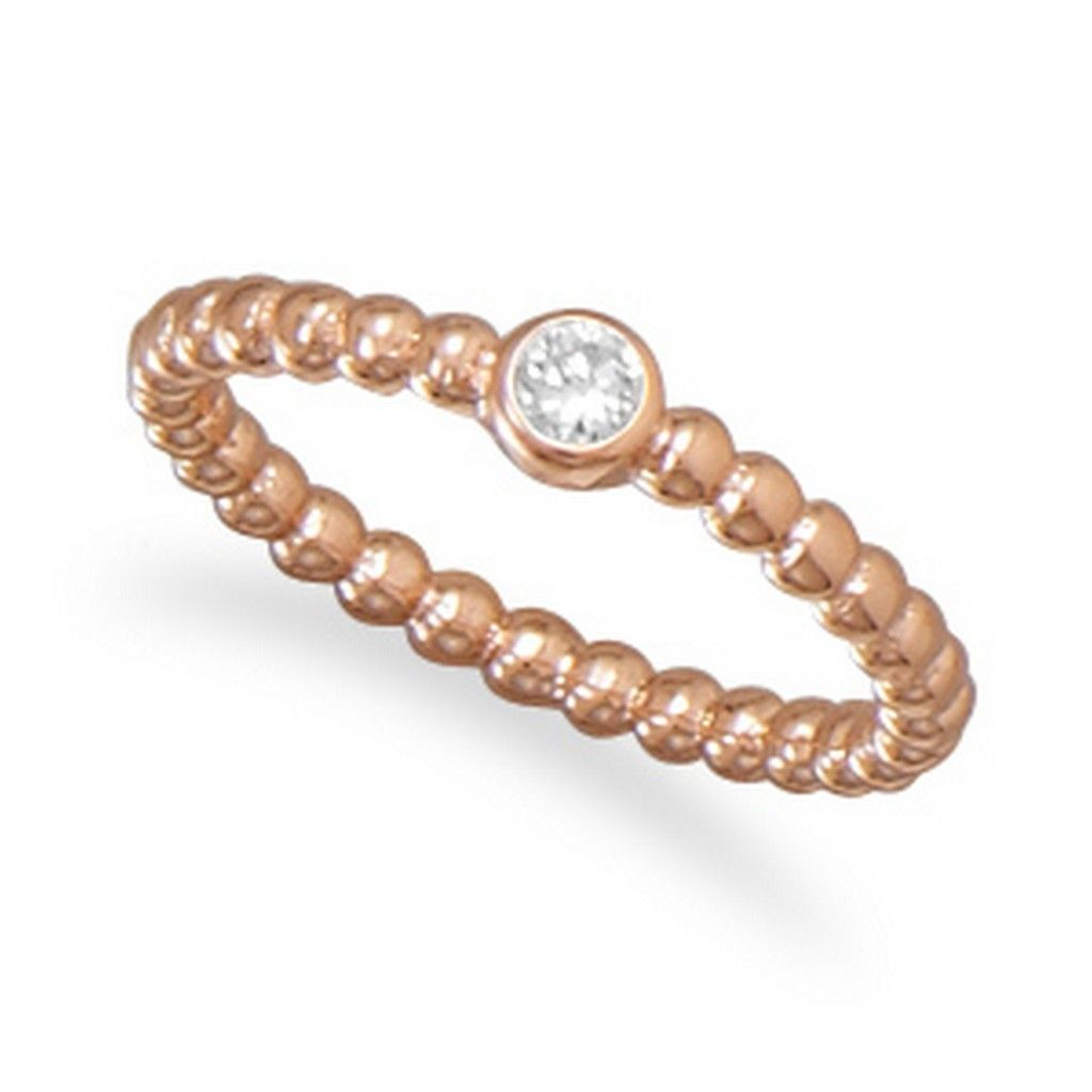 Exotic 14 Karat Rose Gold Plated CZ Ring Size 6 http://artisanorder.com/exotic-14-karat-rose-gold-plated-cz-ring.html