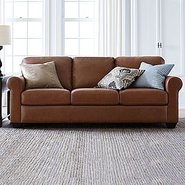Jcp Leather Possibilities Roll Arm Sofa Free Swatch Diy Sofa