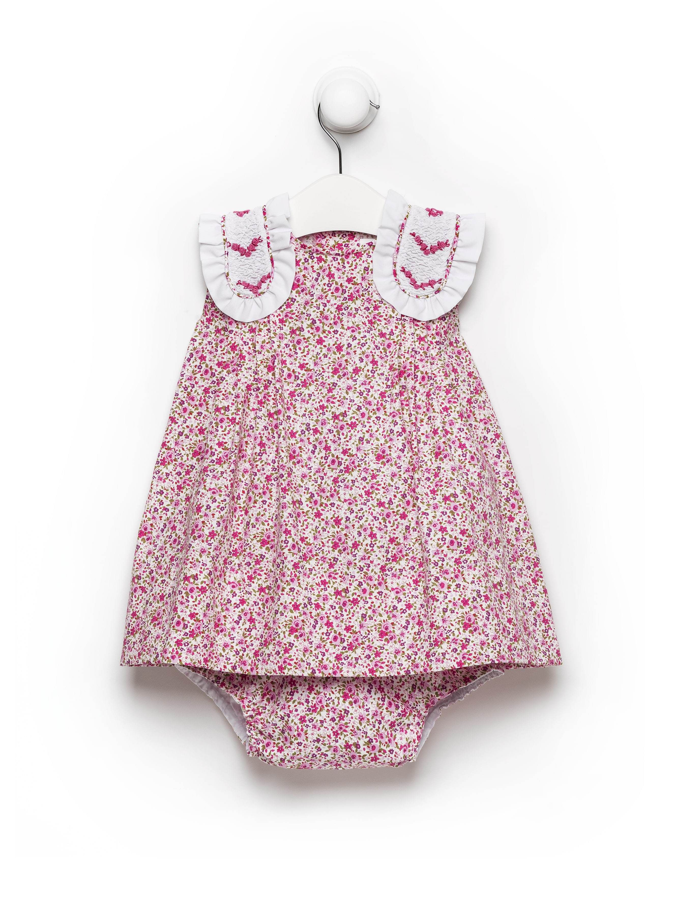 3d403b8154e4 Pink Floral Torero Dress With Bloomers Luxury Baby clothing Handmade ...