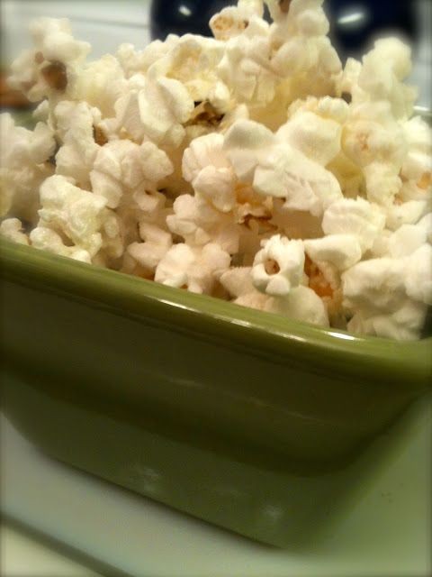 Homemade microwave popcorn.  It is simple and it tastes better than the stuff from the grocery store.