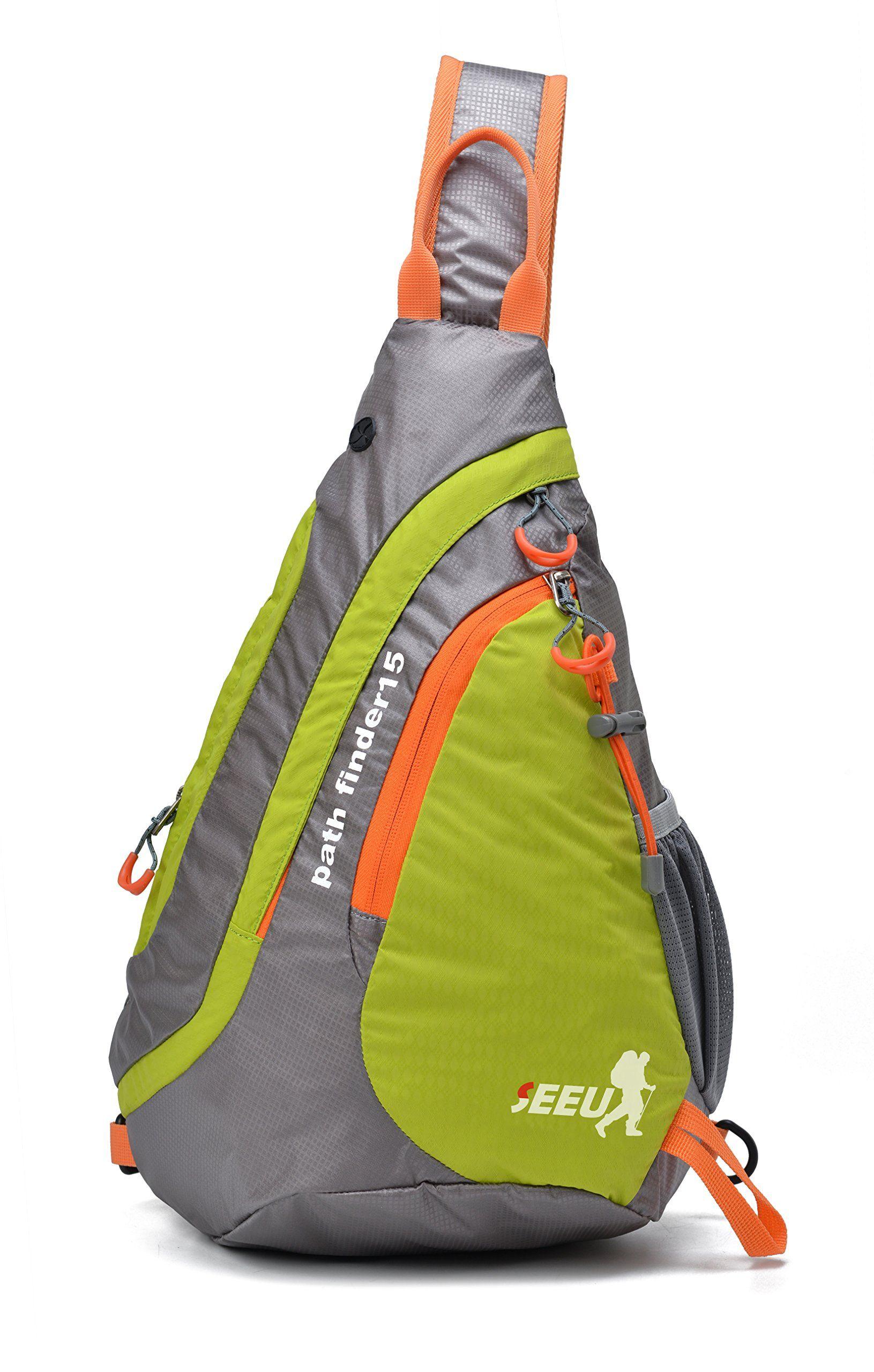 e0293e2674d ... crossbody shoulder backpacks for GYM Travel. SEEU Waterproof Sling Bag  Backpack, Ultralight Multipurpose Outdoor Chest Bag for Men Women Kids 15L