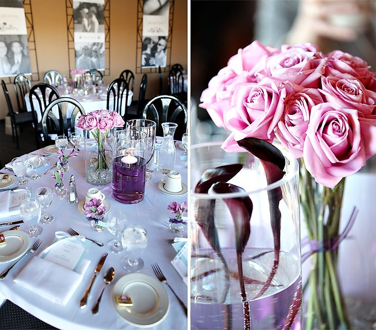 Purple Wedding Ideas For Tables