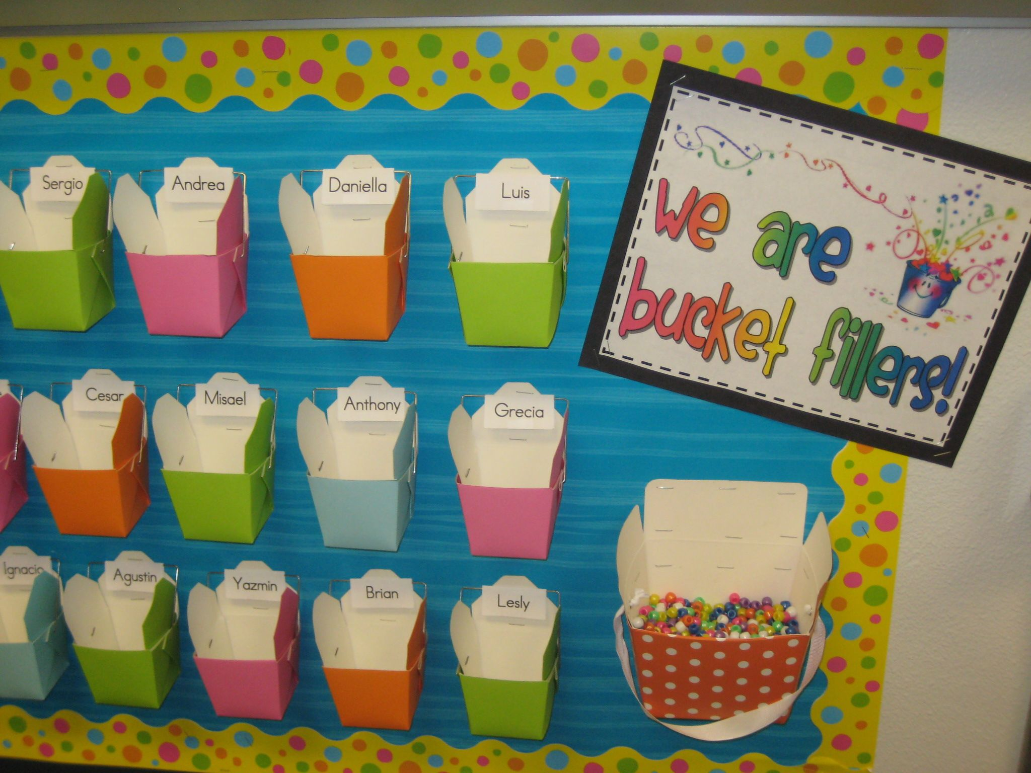 Bucket Fillers Bulletin Board