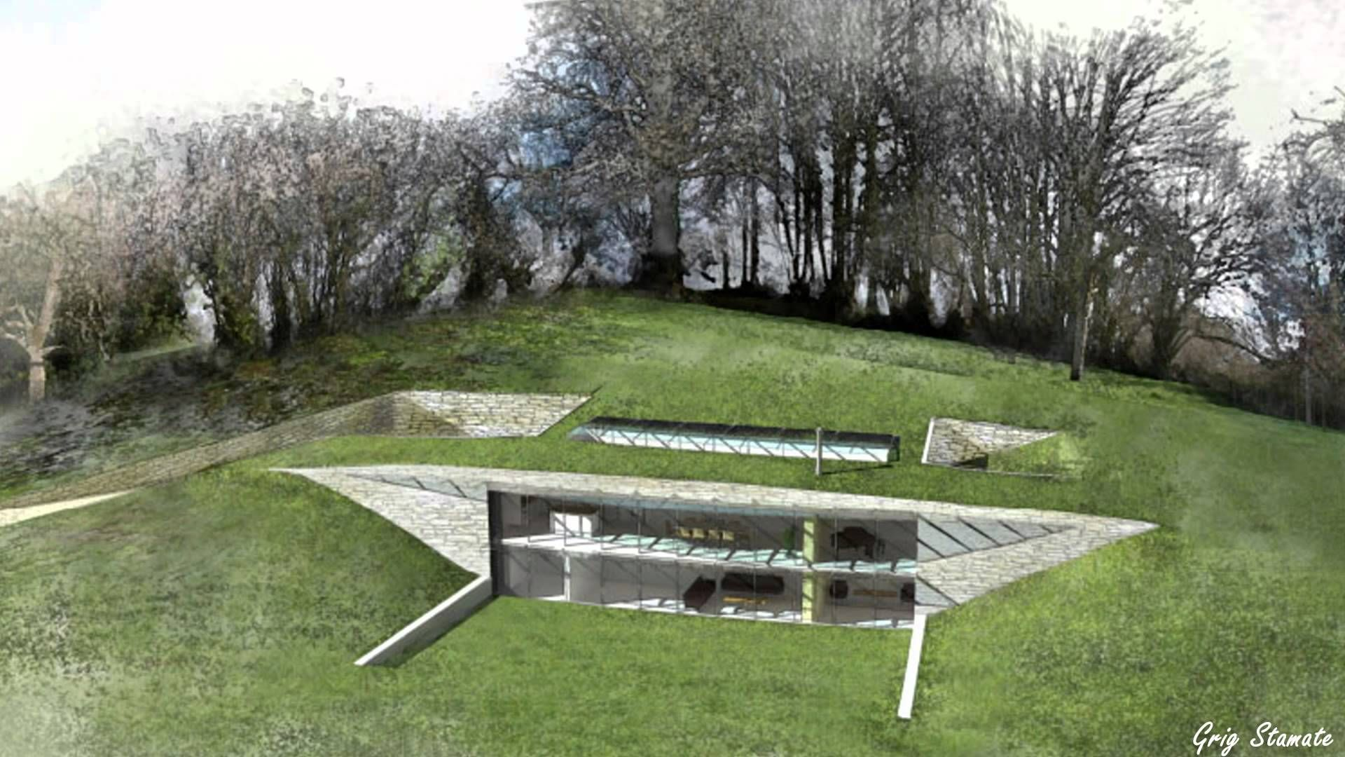 Subterranean House Earth Sheltered Houses Hillside Homes Earth House Pinterest