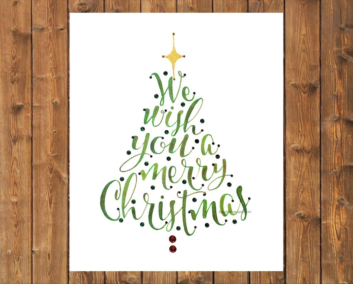 Watercolor We Wish You A Merry Christmas Calligraphy Merry Christmas Calligraphy Christmas Calligraphy Merry Christmas Decoration