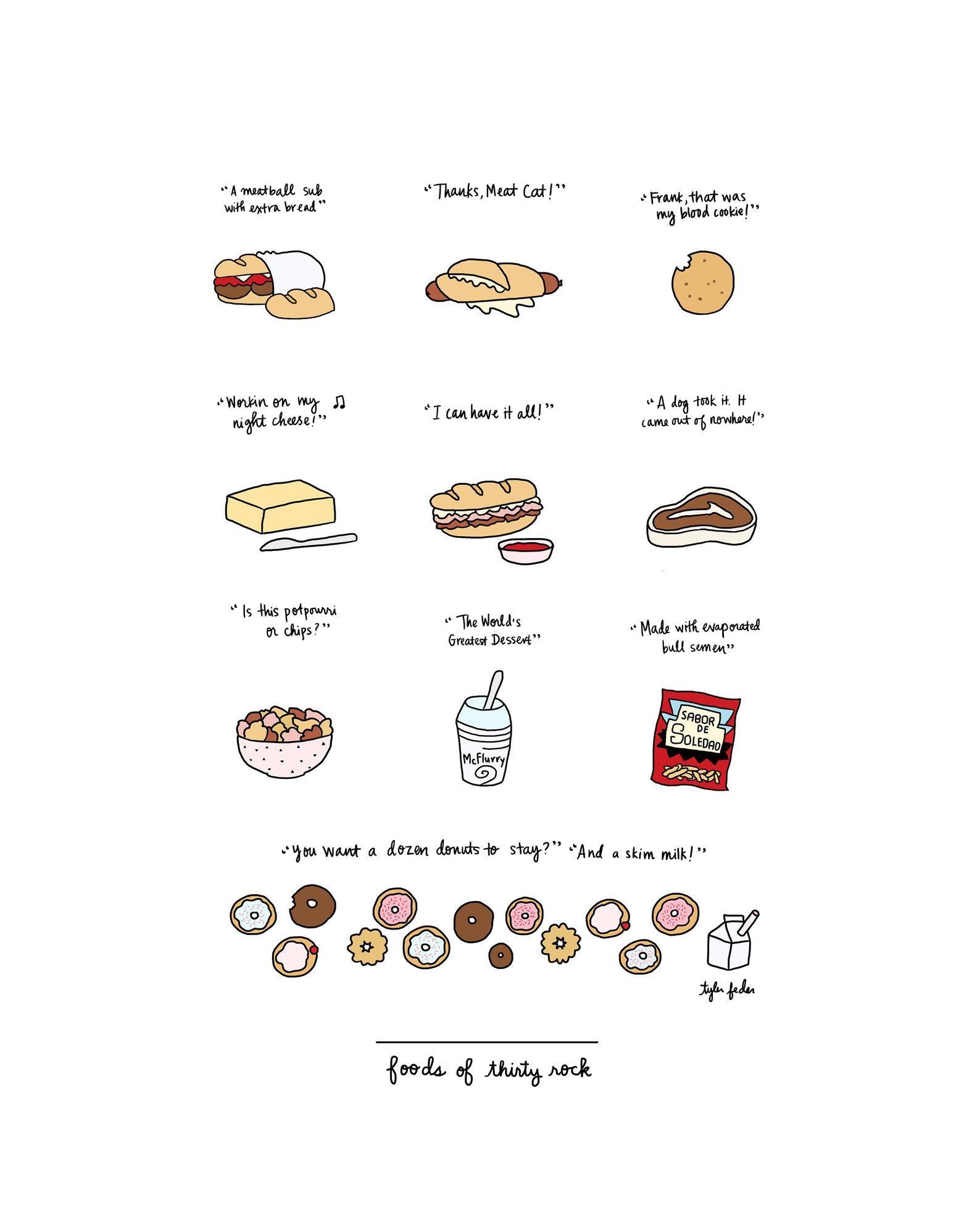 Foods of 30 Rock Digital Download | Etsy