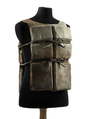 This life jacket is one of only six still known to exist from the Titanic and had been kept in a trunk by a Canadian family since the sinking. Photo: AFP
