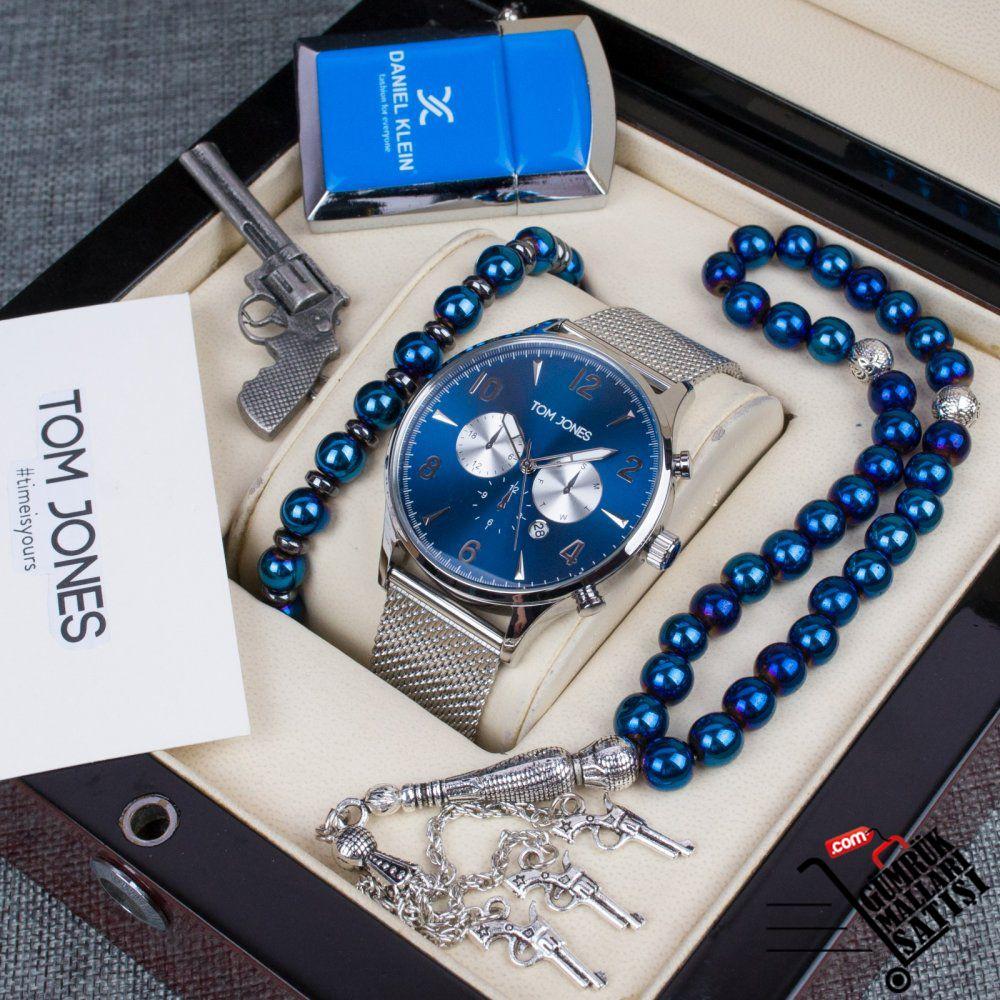 2 Yil Garantili Tom Jones Marka Erkek Saat Kombin 199 99 Tl 8991 In 2020 Daniel Klein Accessories Pocket Watch