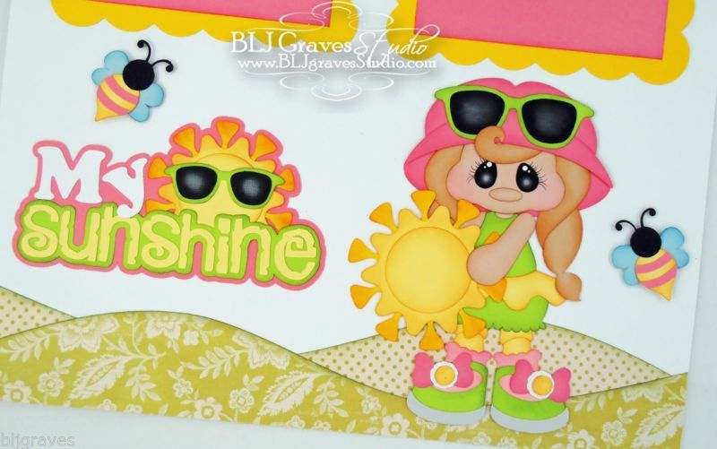 Elite4U Premade Scrapbook Page Paper Piecing My Sunshine Girl BLJgraves 71