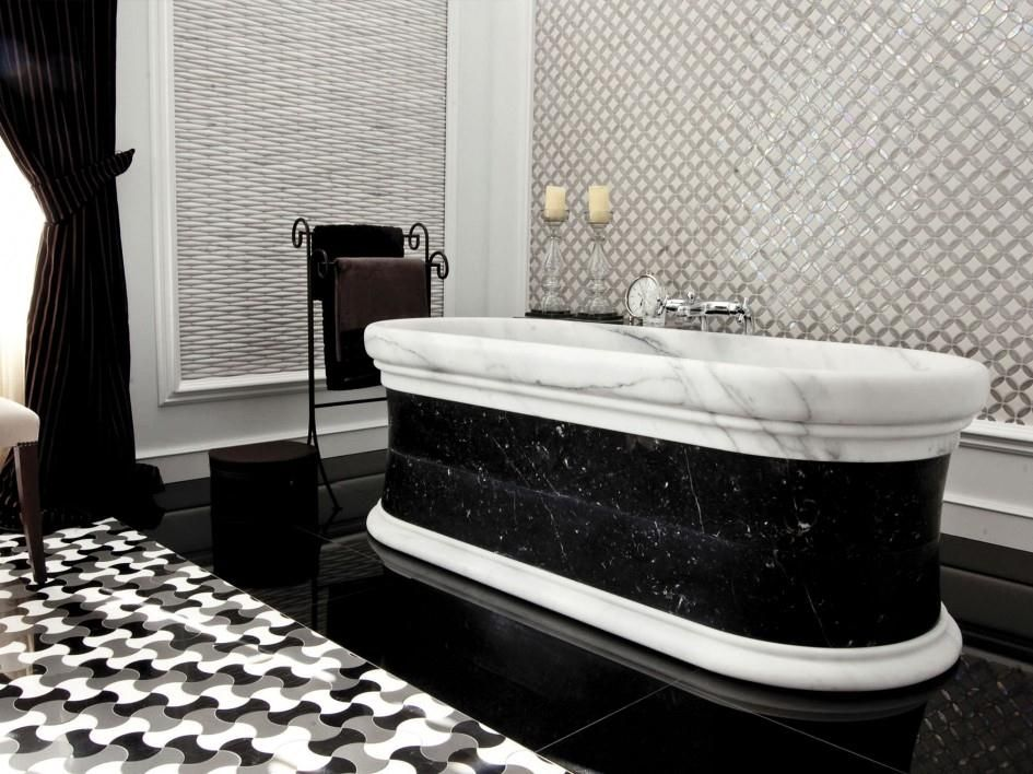 bathrooms with black & white decor - Google Search | Bathroom ...