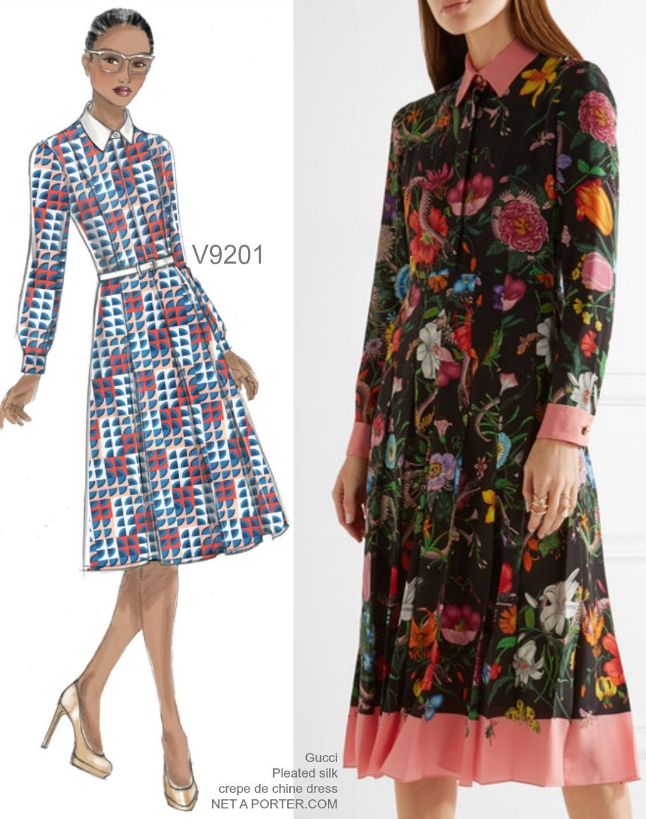 141710213e475 Sew the Look: Vogue Patterns V9201 pleated dress sewing pattern ...