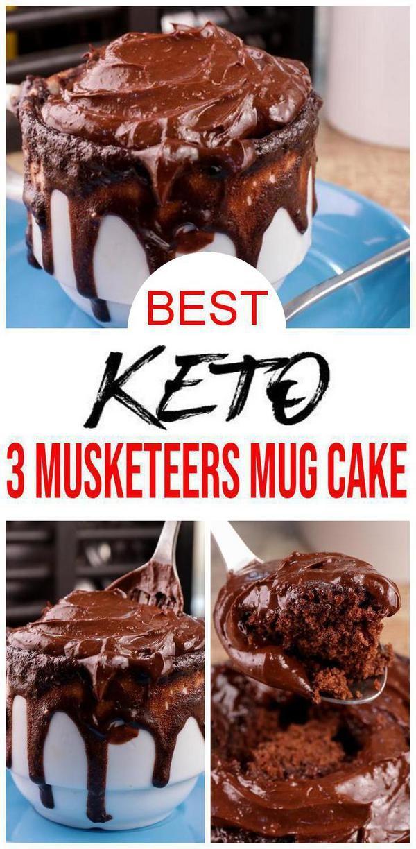 BEST Keto Mug Cake! Low Carb Keto 3 Musketeers Chocolate ...