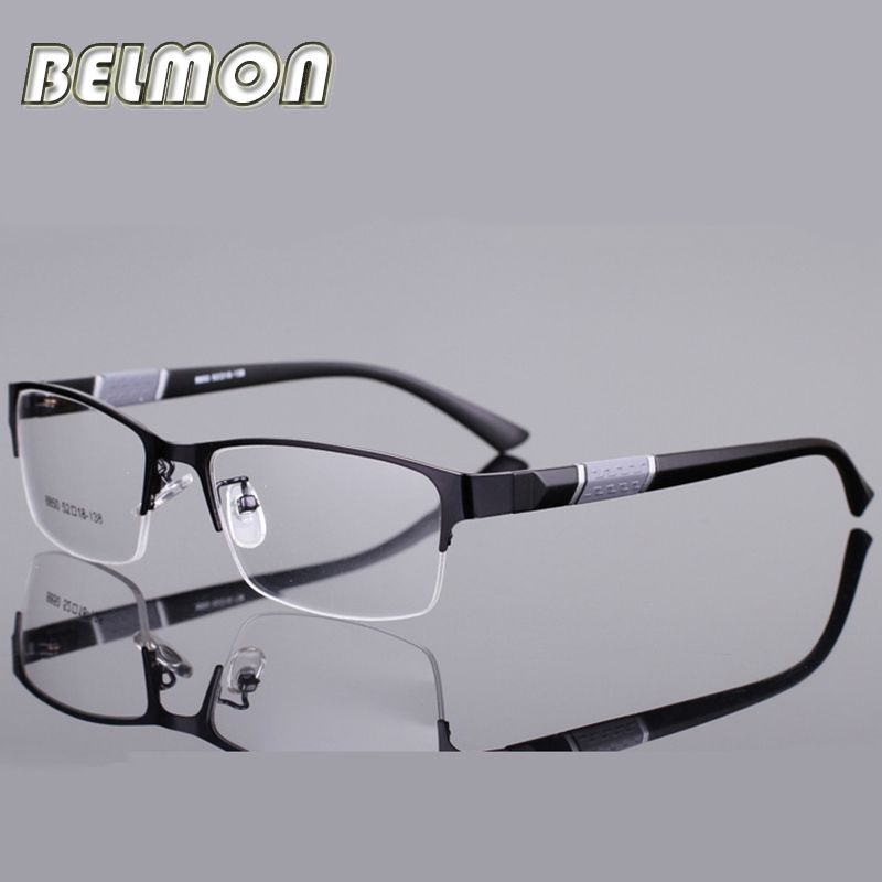 Man Glasses Frame Half Rim Opticos Eyeglasses Frames Men Buffalo ...