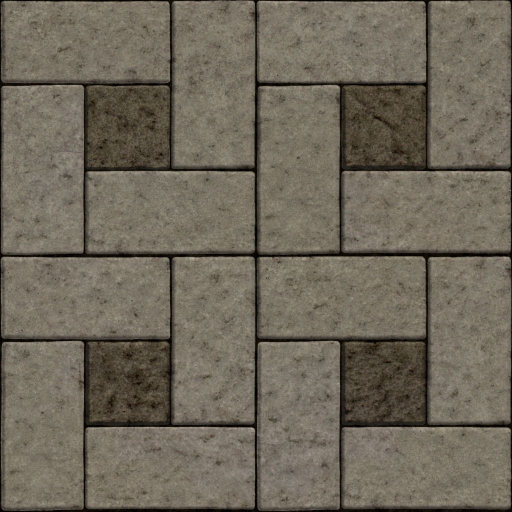 Free Tile Layout Patterns Seamless Floor Concrete Stone Block Tiles Texture 1024px Random