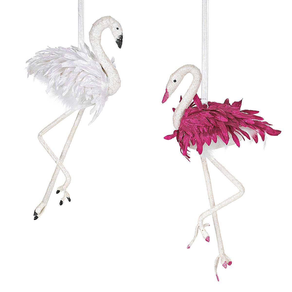 Flamingo ornaments, perhaps for the Christmas tree;) I Like