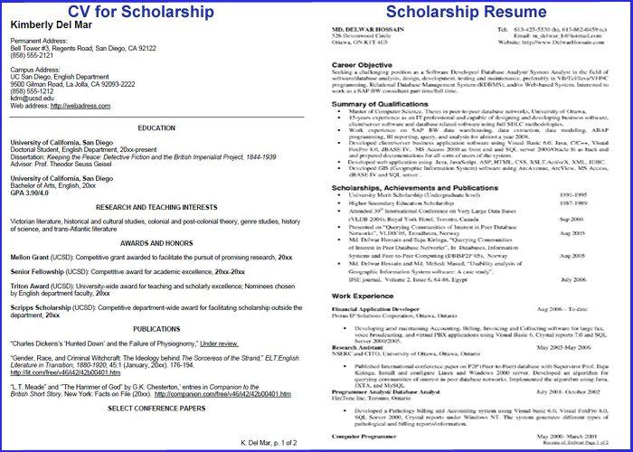 How To Write Impressive Cv For Scholarship  U2013 2019 Scholarship Positions Blog