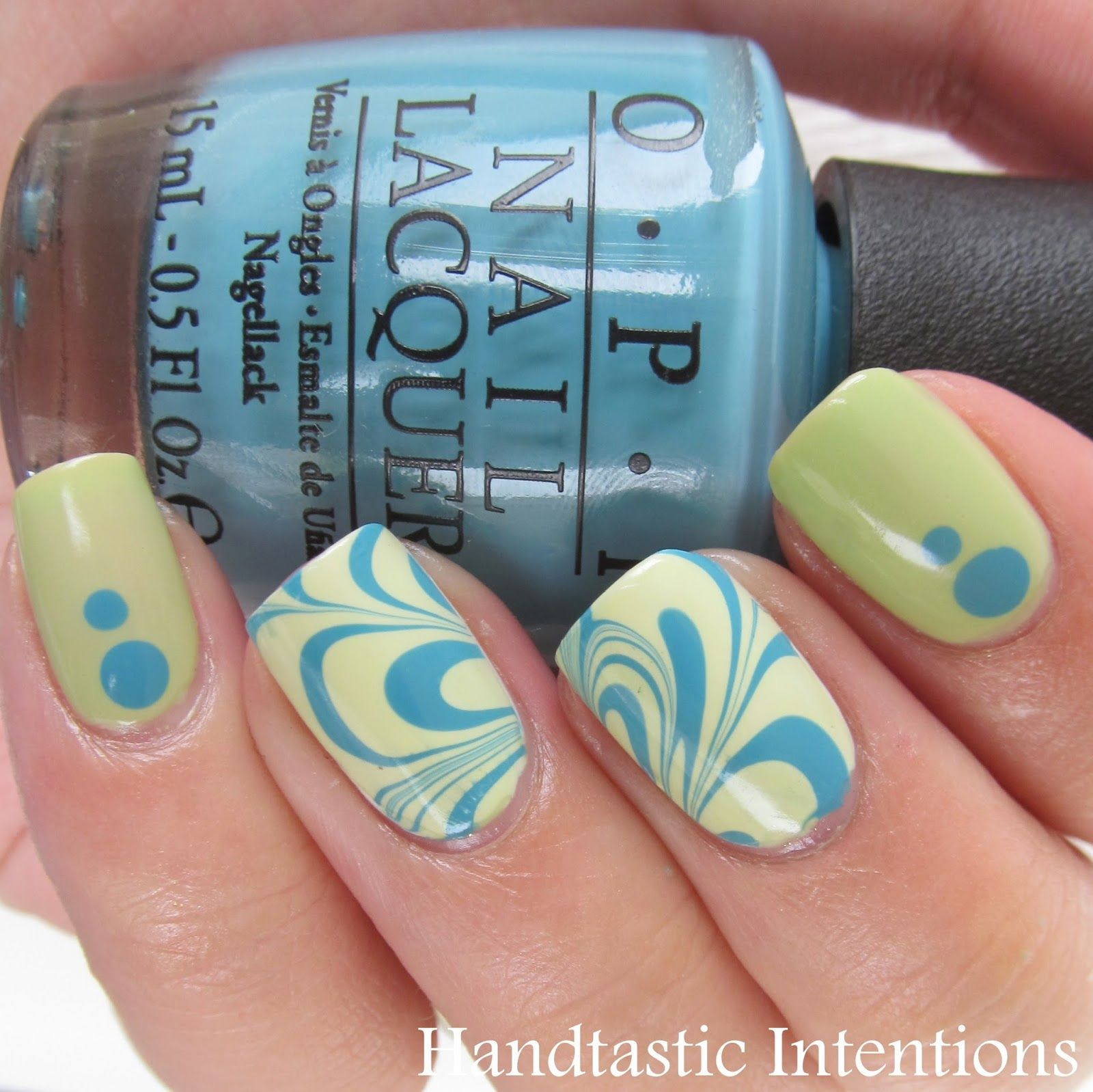 Handtastic Intentions: Spring Inspired Water Marble | Nail Art ...
