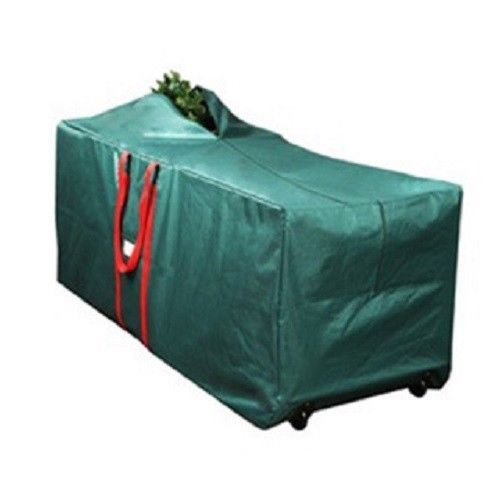 Christmas Tree Storage Bag Rolling Wheeled Tote Decorations Box