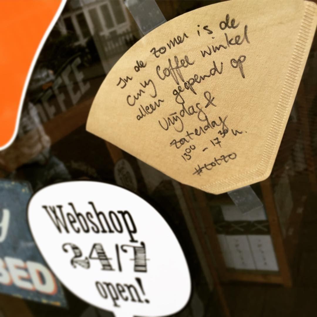 In de zomer is de Curly Coffee winkel alleen op vrijdag en zaterdag geopend #totzo #genieten #zomer