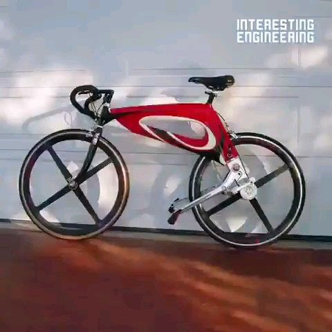 This bike's unique design will give you an extra boost in power while on the road