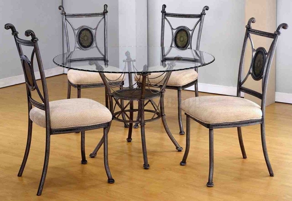Glass And Metal Dining Table And Chairs Glass Dining Table Set