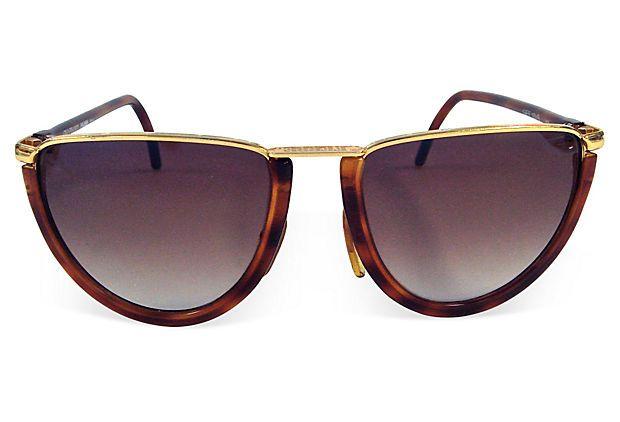 9bdb6a319aa Gianfranco Ferre Vintage Faux-Tortoiseshell Sunglasses Eyewear