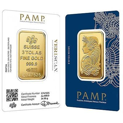 Lot Of 2 3 Tolas Gold Bar Pamp Suisse Lady Fortuna Veriscan 9999 Fine In Gold Bar Buy Gold And Silver Gold Bullion