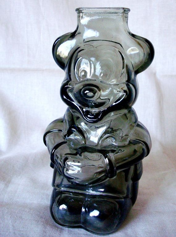 1960s Mickey Mouse Glass Bank