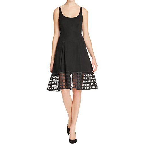 Aidan by Aidan Mattox Women's Scoop Neck Sleevless Cocktail Dress with Grid Hem Detail, Black, 8   #FreedomOfArt  Join us, SUBMIT your Arts and start your Arts Store   https://playthemove.com/SignUp