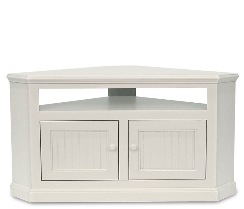 coastal corner tv stand soft white an excellent solution for corner areas this