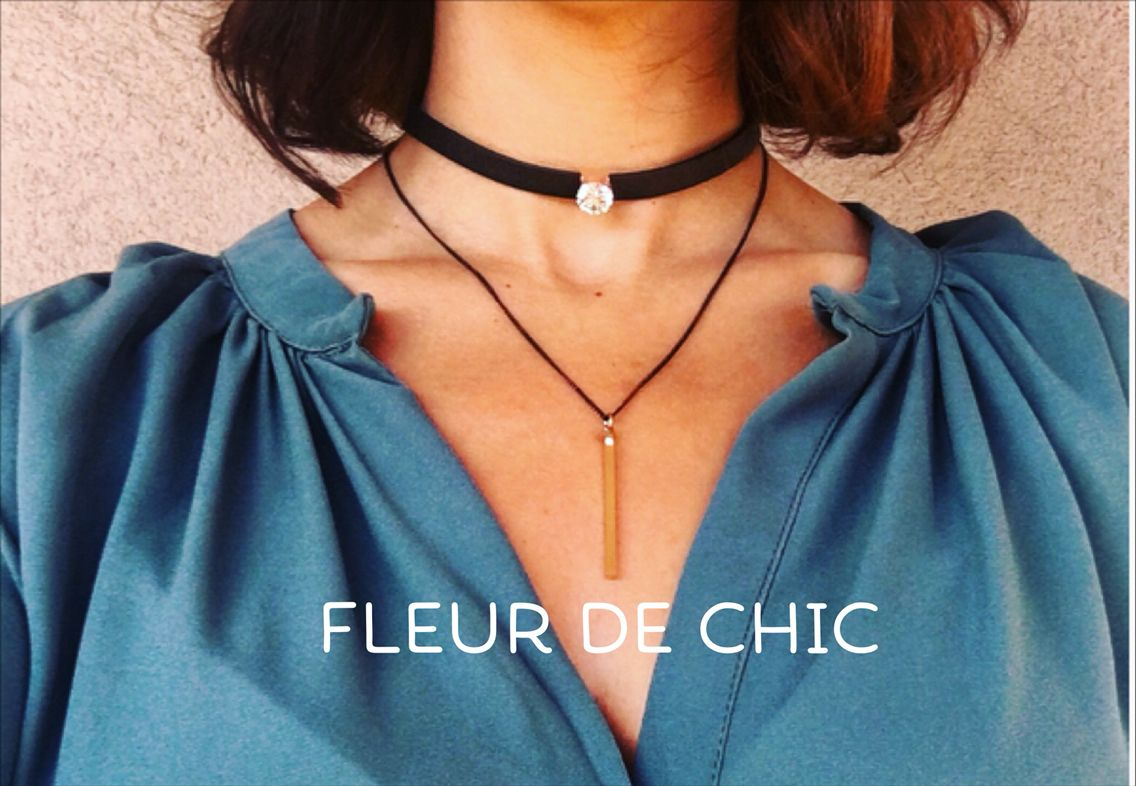 Get the retro glam look with this choker and dangle combo! Only $12 from Fleur de Chic!
