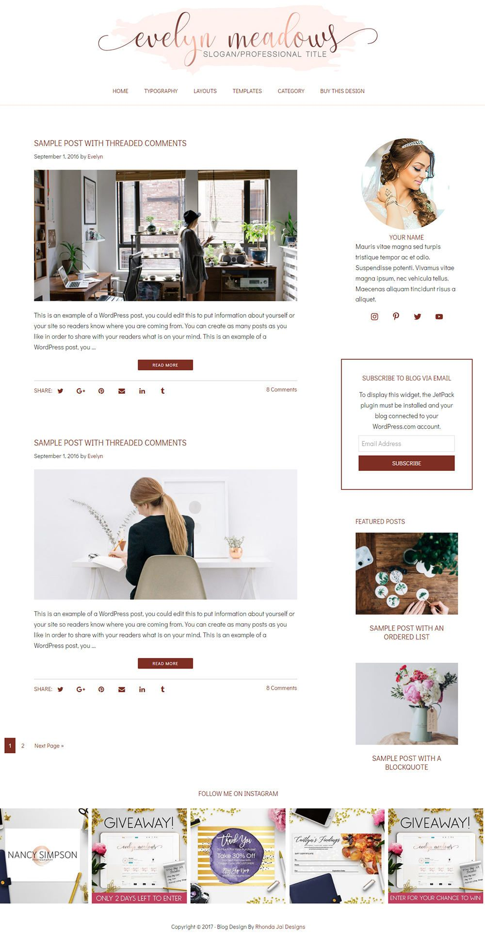 45 Off Sale Wordpress Blog Theme Blog Template Blog Design