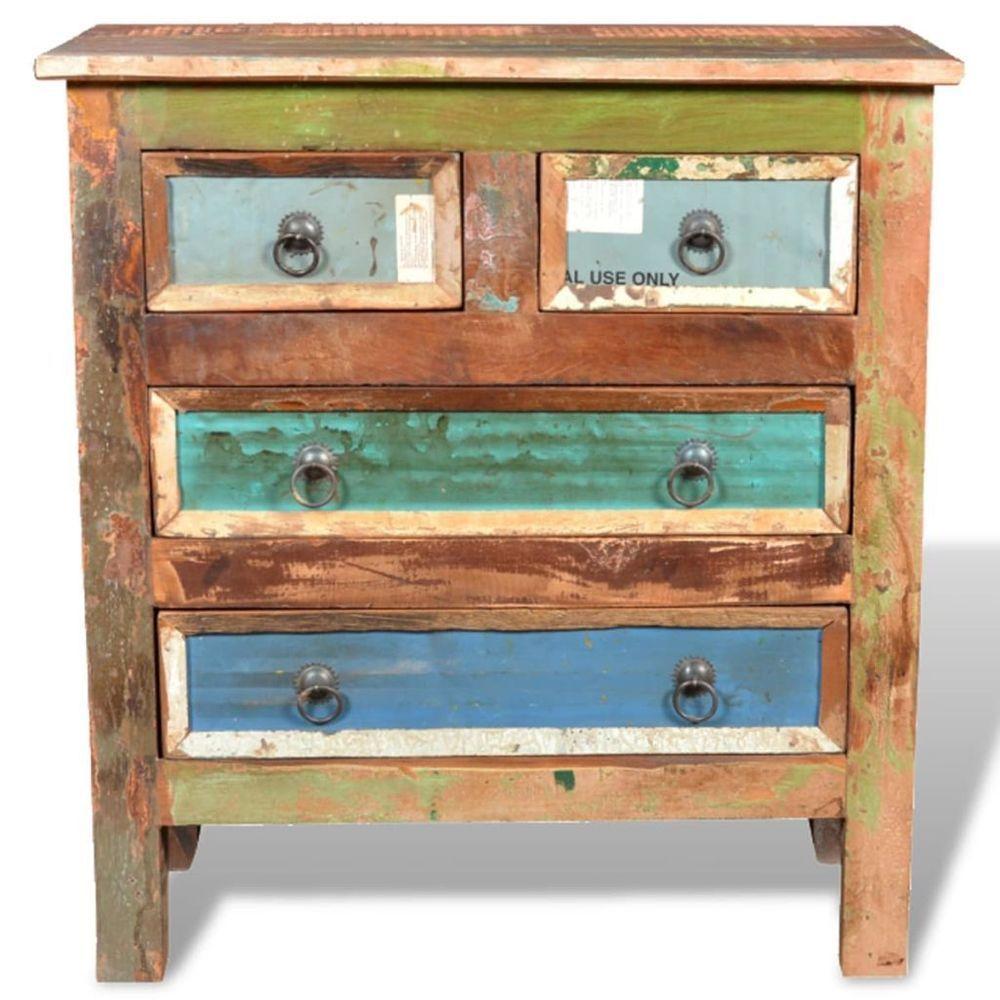 Handmade Reclaimed Solid Wood Sideboard 4Drawers
