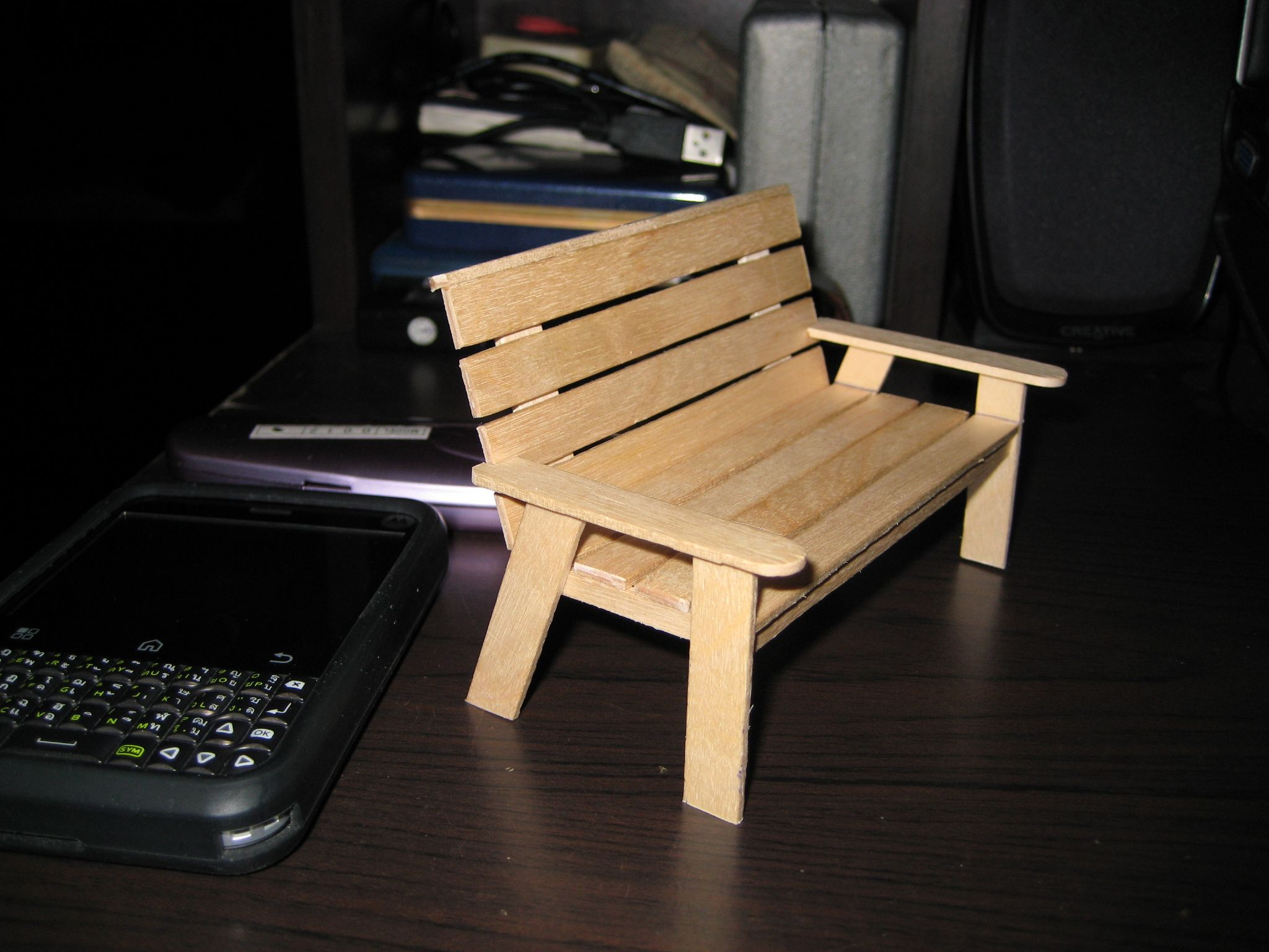 Long wooden craft sticks - My Hobby Craft Miniature Park Benches For Dolls