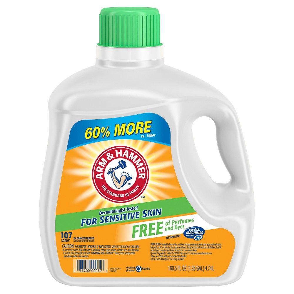 Arm Hammer Sensitive Free Clear Liquid Laundry Detergent 160 5oz Laundry Detergent Best Laundry Detergent