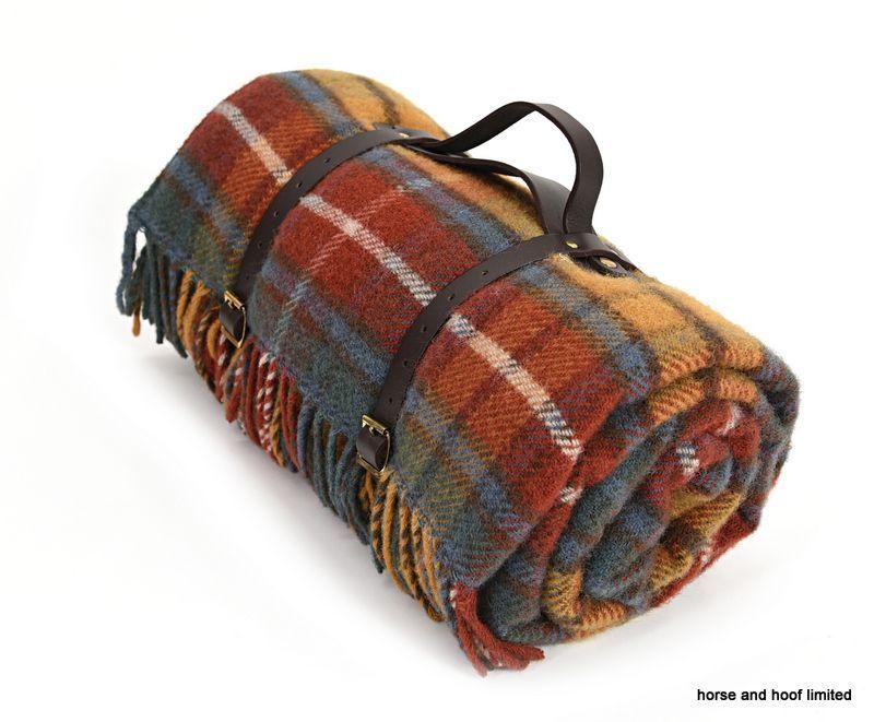 Tweedmill Polo Pure New Wool Picnic Rug With Waterproof