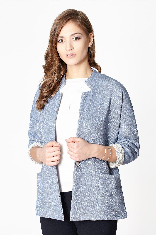 Jacket model 51524 Click Fashion. Cotton 93 % Spandex 7 %       Size Chest    36 84-88 cm   38 88-92 cm   40 92-96 cm   42 96-100 cm