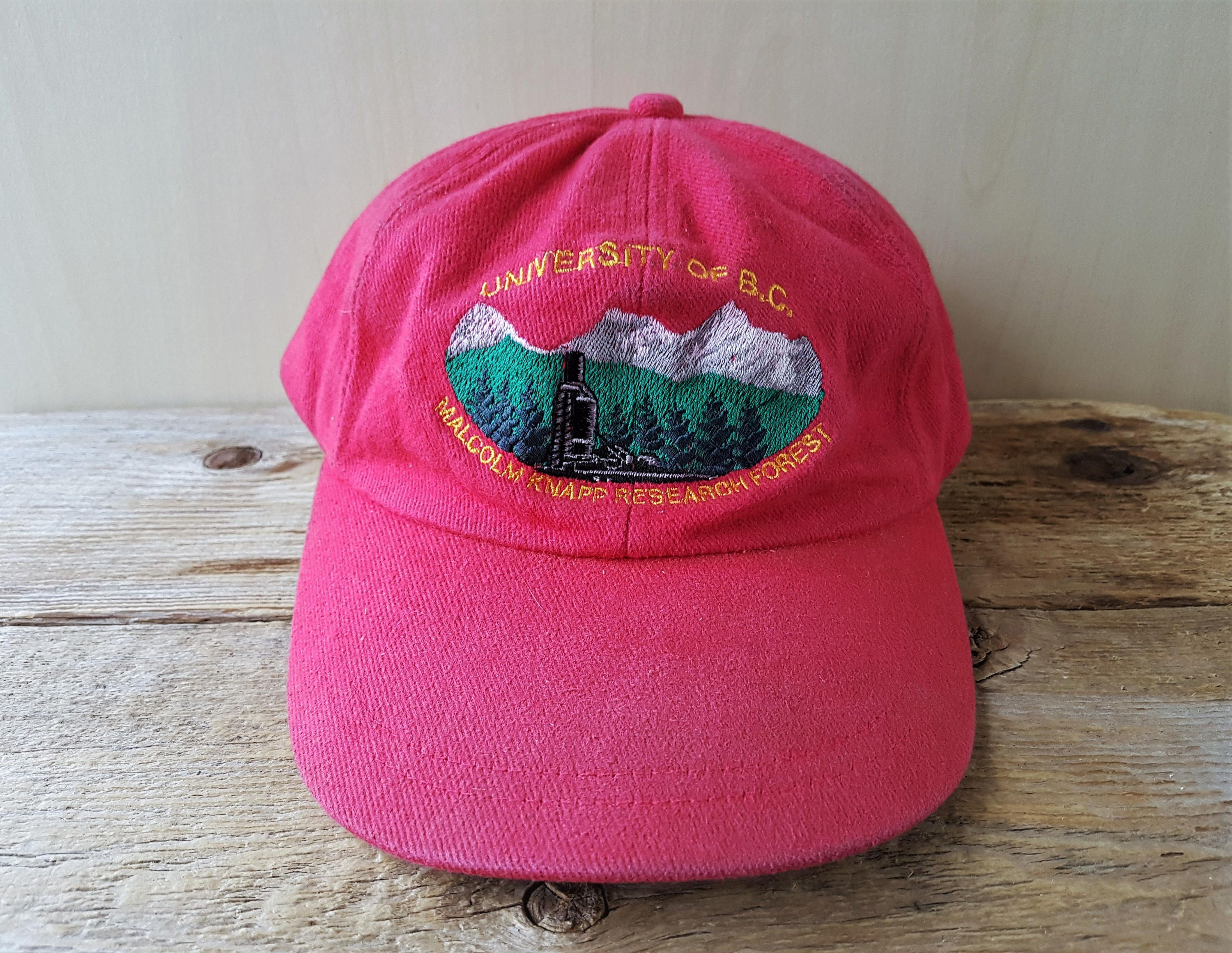 University Of Bc Malcolm Knapp Research Forest Strapback Hat Vintage 90s Unstructured Baseball Cap Ubc Mkrf Minimal Red Fo In 2020 Hats Vintage Strapback Hats Ball Cap