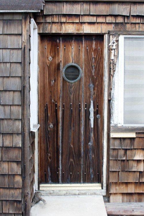 Rustikale Haustüren Holz haustüren aus echtholz 15 attraktive deko ideen rustikaler stil