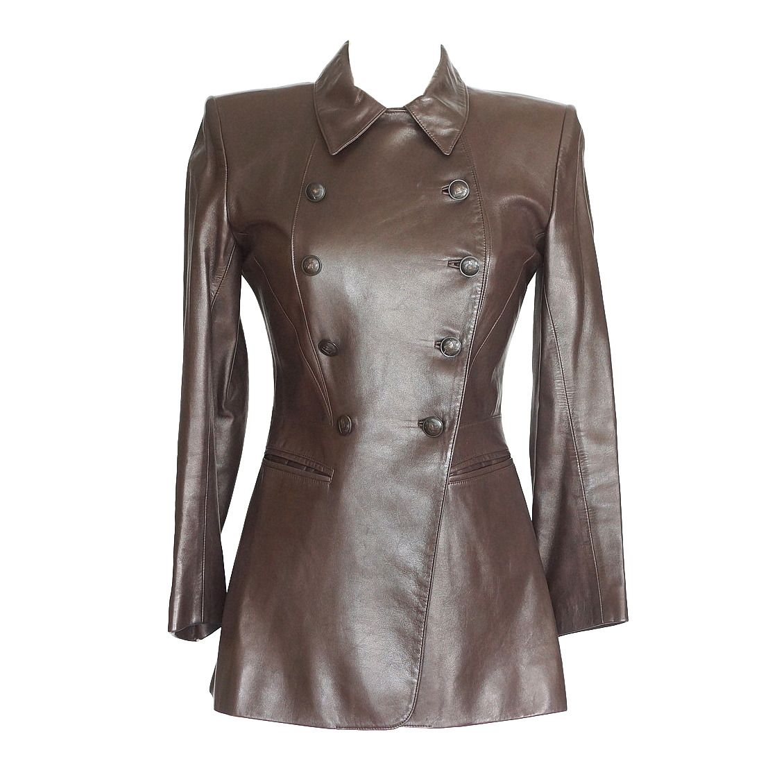 HERMES vintage lambskin leather brown jacket SUPERB details 36 4 to 6 | From a collection of dealer mightychic rare vintage jackets at https://www.1stdibs.com/fashion/clothing/jackets/