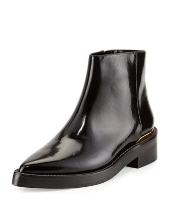 d07fdd08a3 Point-Toe Calfskin Chelsea Boot