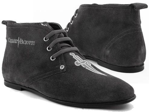 Cesare Paciotti Men's Ankle Boots Gray Suede