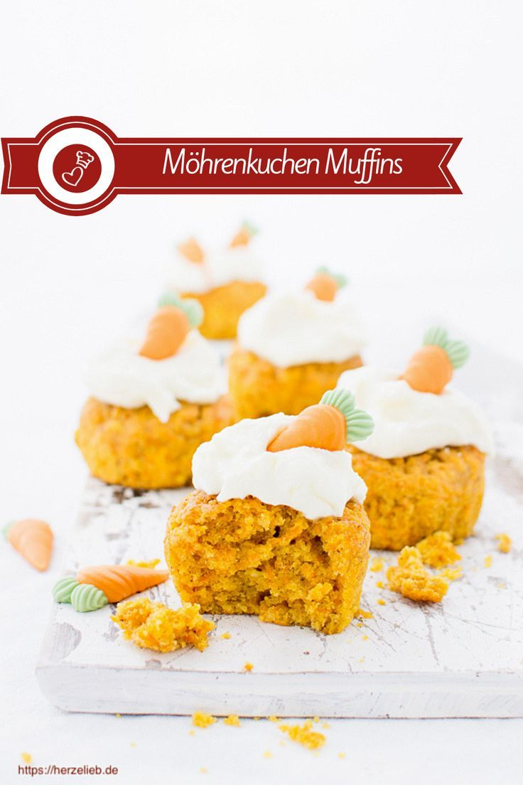 Möhrenkuchen aus der Muffinform – Rezept Kuchen Rezepte, Möhren Rezepte: Rezept für eine supersaftigen Karottenkuchen oder Möhrenkuchen aus der Muffinform von herzelieb. Dieser Kuchen ist schön saftig und einfach zu backen.