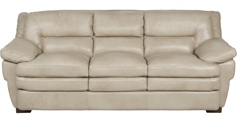 Sofas Rooms To Go Aventino Tan Leather Sofa 14101973 Tan
