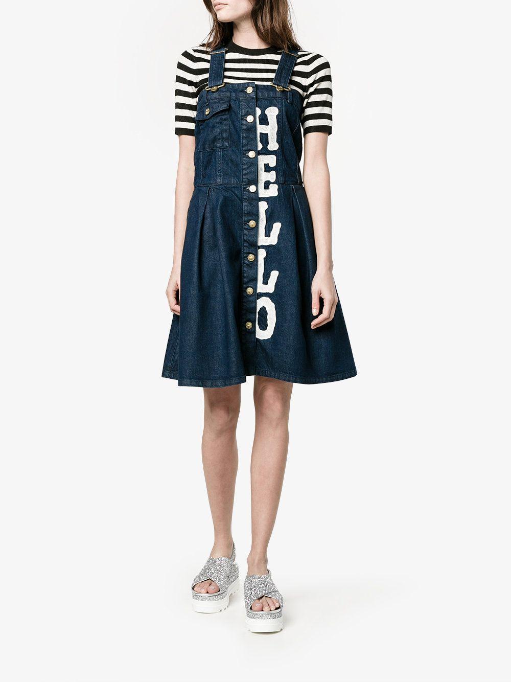 House Of Holland denim dungaree dress