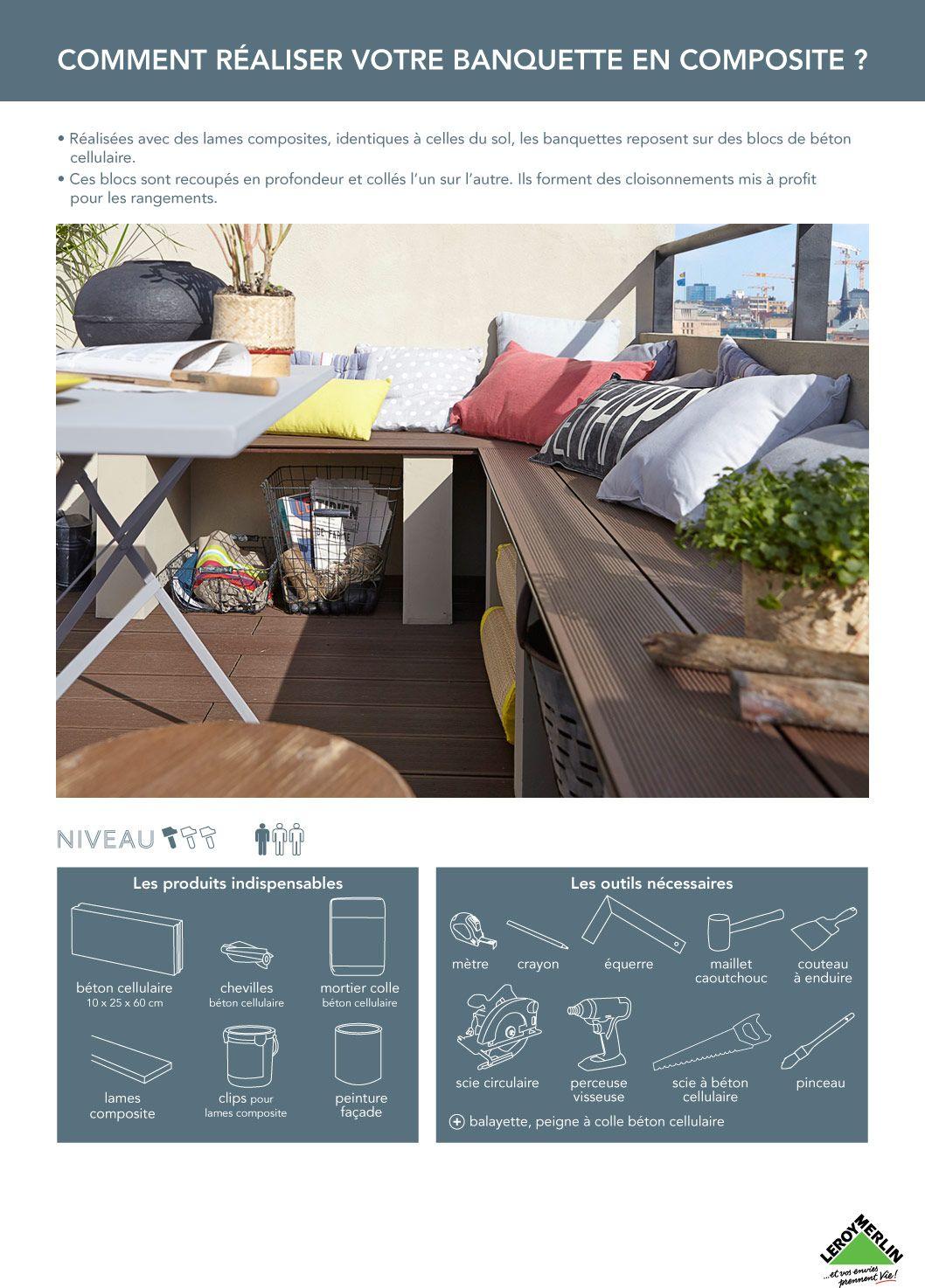 Creer Une Banquette En Composite Banquette Jardin Banquette En Bois Nettoyage Terrasse