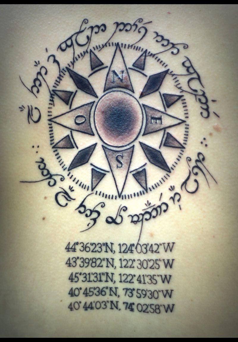 Elvish Compass By Taylorharmon Deviantart Com Elvish Tattoo