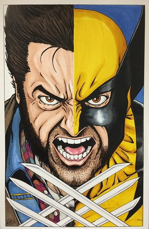 Logan Wolverine Transformation 11x17 Fine Art Print Etsy In 2020 Wolverine Marvel Art Wolverine Art Wolverine Comic