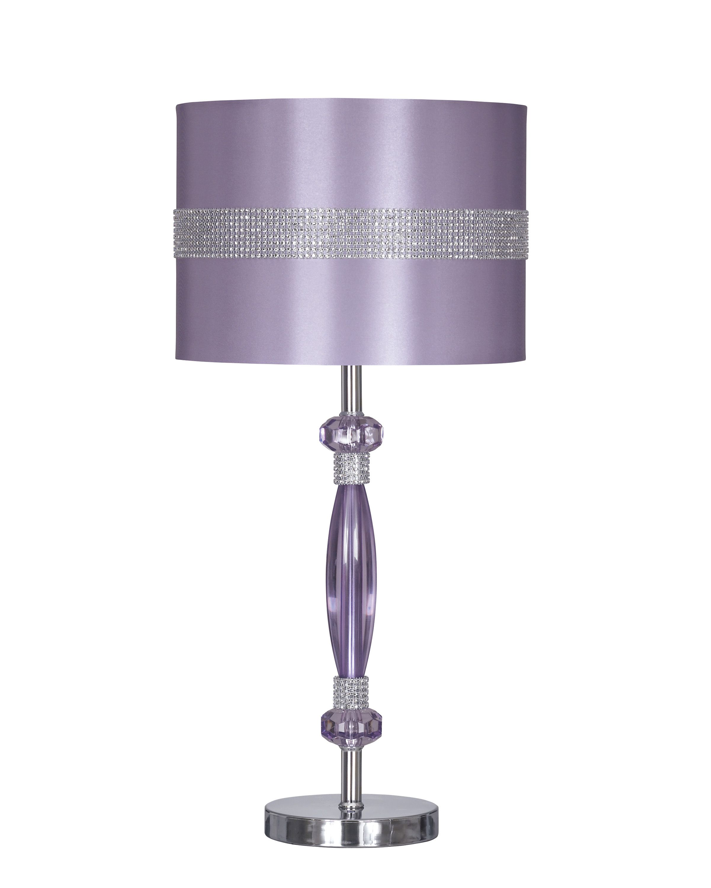 The Nyssa Lamp Is Recommended To Match W The Doll House Youth Bedroom Metal Table Lamps Purple Lamp Table Lamp