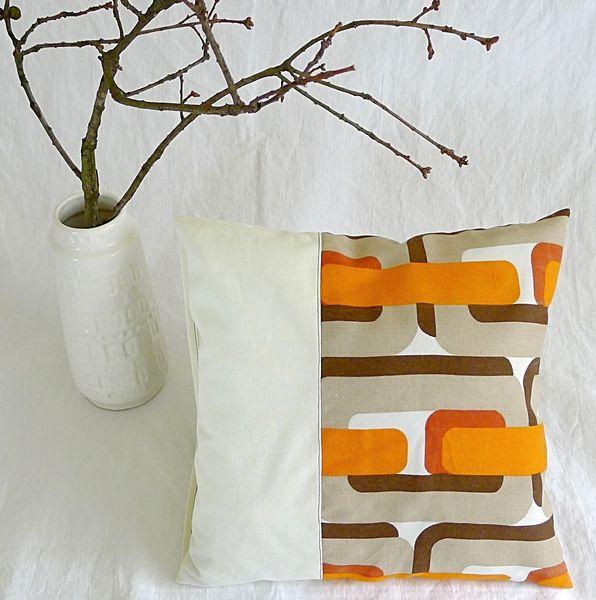 Kissenbezug 40 x 40 cm gestreift grün weiß dansk Hüte und Sofas - wohnzimmer grun orange